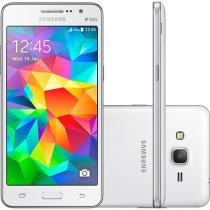 "Smartphone Samsung Galaxy Gran Prime Duos 8GB - Branco Dual Chip 3G Câm. 8MP + Selfie 5MP Tela 5"""