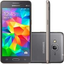"Smartphone Samsung Galaxy Gran Prime Duos 8GB Cinza Dual Chip 3G Câm. 8MP + Selfie 5MP Tela 5"""