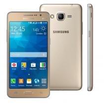 """Smartphone samsung galaxy gran prime duos g531h dourado com dual chip, tela de 5"""", câmera 8mp, android 5.1 e processador quad core de 1.3ghz -"""