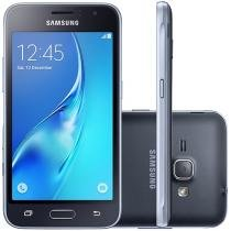 "Smartphone Samsung Galaxy J1 2016 8GB Preto - Dual Chip 3G Câm. 5MP Tela 4.5"" Proc. Quad Core"