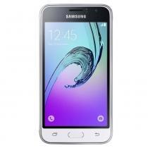 """Smartphone samsung galaxy j1 2016 duos branco com dual chip, tela 4.5"""", 3g, câm.de 5mp e frontal de 2mp, android 5.1 e processador quadcore de 1.2 ghz - Samsung"""