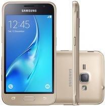 """Smartphone Samsung Galaxy J1 8GB Dourado Dual Chip - 3G Câm. 5MP Tela 4.5"""" Proc. Quad Core"""