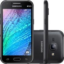 "Smartphone Samsung Galaxy J1 Duos Dual Chip 4G - Câm. 5MP Tela 4.3"" Quad Core Cartão 8GB Desbl. Tim"