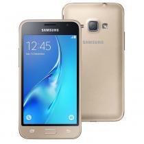 "Smartphone Samsung Galaxy J1 Duos J120H, 4.5"", 3G, Android 5.1, 5MP, 8GB Dourado -"