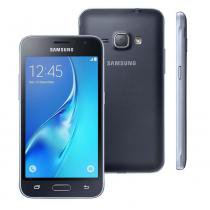 "Smartphone Samsung Galaxy J1 Duos J120H, 4.5"", 3G, Android 5.1, 5MP, 8GB - Preto -"