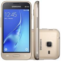 """Smartphone Samsung Galaxy J1 Mini 8GB Dourado - Dual Chip 3G Câm. 5MP Tela 4"""" Desbl. Claro"""