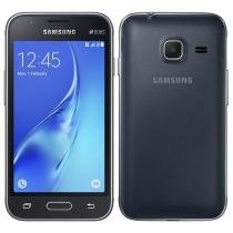 "Smartphone Samsung Galaxy J1 Mini, Dual Chip, Preto, Tela 4"", 3G+WiFi, Android 5.1, 5MP, 8GB -"