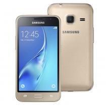"""Smartphone samsung galaxy j1 mini duos dourado com dual chip, tela 4.0"""", 3g,, android 5.1 -"""