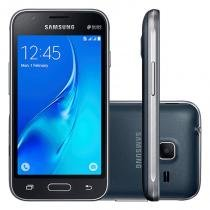 """Smartphone Samsung Galaxy J1 Preto 8GB 4.0"""" 5MP 3G e Processador Quad Core de 1.2 GHz -"""