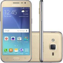 Smartphone Samsung Galaxy J2 Duos 8GB Tela 4.7  4G Wi-Fi Câmera 5MP TV Digital - DOURADO -