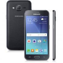 Smartphone Samsung Galaxy J2 Duos J200B, Preto, 8GB, Tela 4.7, 4G, Android 5.1, 5MP, TV Digital -