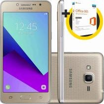 "Smartphone Samsung Galaxy J2 Prime TV 16GB Dourado Dual Chip Android 6.0 Tela 5"" 8MP 4G + Microsoft Office 365 Personal -"