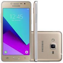 "Smartphone Samsung Galaxy J2 Prime TV 8GB Dourado - Dual Chip 4G Câm. 8MP + Selfie 5MP Tela 5"" qHD"