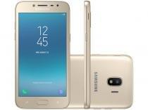 "Smartphone Samsung Galaxy J2 Pro 16GB Dourado - Dual Chip 4G Câm. 8MP + Selfie 5MP Flash Tela 5"""