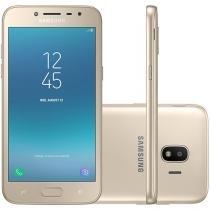 "Smartphone Samsung Galaxy J2 Pro 16GB Dourado - Dual Chip 4GB Câm. 8MP + Selfie 5MP Flash 5.5"""