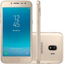 """Smartphone Samsung Galaxy J2 Pro J250M Dourado Dual Chip 16GB Tela 5"""" Flash Frontal Câmera de 8MP -"""