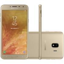 Smartphone Samsung Galaxy J4 32GB Dourado - Dual Chip 4G Câm. 13MP + Selfie 5MP Flash