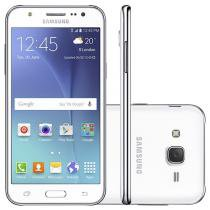 Smartphone Samsung Galaxy J5 Duos 16GB Branco Dual Chip 4G Câm. 13MP + Selfie 5MP com Flash