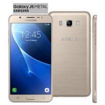 """Smartphone samsung galaxy j5 duos metal dourado com 16gb, dual chip, tela 5.2"""", 4g, câmera 13mp, android 6.0 e processador quad core de 1.2 ghz - Sansung"""