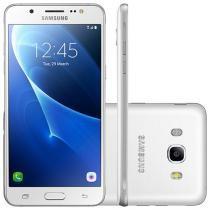 "Smartphone Samsung Galaxy J5 Metal 16GB Branco - Dual Chip 4G Câm 13MP + Selfie 5MP Flash Tela 5,2"""
