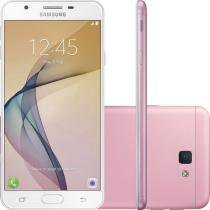 "Smartphone Samsung Galaxy J5 Prime 32GB Dual Chip 4G 5"" Câmera 13MP Selfie 5MP Android 6.0 Rosa -"
