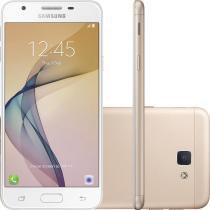 """Smartphone Samsung Galaxy J5 Prime Dual Chip Android 6.0 Tela 5"""" Quad-Core 1.4 GHz 32GB 4G Wi-Fi Câmera 13MP com Leitor de Digital Dourado - Samsung"""