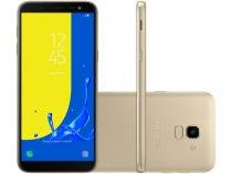 Smartphone Samsung Galaxy J6 32GB Dourado - Dual Chip 4G Câm. 13MP + Selfie 8MP Flash