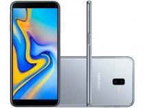 "Smartphone Samsung Galaxy J6+ 32GB Prata 4G - 3GB RAM Tela 6"" Câm. Dupla + Câm. Selfie 8MP"
