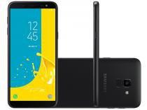 "Smartphone Samsung Galaxy J6 64GB Preto 4G - Octa Core 2GB RAM Tela 5,6"" Câm. 13MP + Selfie 8MP"