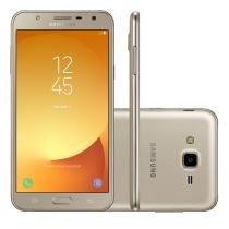 Smartphone Samsung Galaxy J7 Neo TV Dourado, Tela 5.5, Dual Chip, Câm 13MP, 16GB, Android 7 -