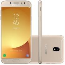 "Smartphone Samsung Galaxy J7 Pro 64GB Dourado - Dual Chip 4G Câm. 13MP + Selfie 13MP Tela 5,5"""