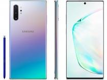 "Smartphone Samsung Galaxy Note 10+ 256GB Prata 4G  - 12GB RAM 6,8"" Câm. Quadrupla + Câm. Selfie 10MP"