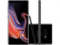 "Smartphone Samsung Galaxy Note 9 128GB Preto 4G - 6GB RAM Tela 6,4"" Câm. 12MP + 12MP + Selfie 8 MP"
