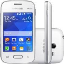 "Smartphone Samsung Galaxy Pocket 2 Duos Dual Chip - 3G Câm. 2MP Tela 3.3"" Single Core Desbl. Claro"