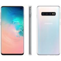 "Smartphone Samsung Galaxy S10 128GB Branco 4G - 8GB RAM Tela 6,1"" Câm. Tripla + Selfie 10MP"