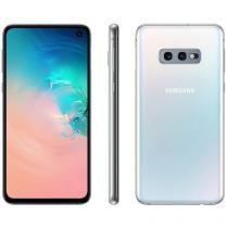 "Smartphone Samsung Galaxy S10e 128GB Branco 4G  - 6GB RAM Tela 5,8"" Câm. Dupla + Câm. Selfie 10MP"