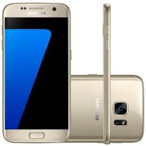 "Smartphone Samsung Galaxy S7 32GB Dourado 4G - Câm. 12MP + Selfie 5MP Tela 5.1"" Quad HD Octa-Core"