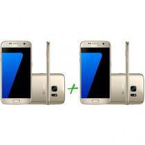 Smartphone Samsung Galaxy S7 32GB Dourado - 4G + Smartphone Samsung Galaxy S7 32GB Dourado 4G