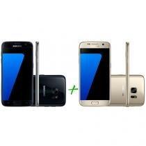 Smartphone Samsung Galaxy S7 32GB Preto - 4G + Smartphone Samsung Galaxy S7 32GB Dourado 4G