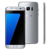 "Smartphone Samsung Galaxy S7 edge, 32GB, 5.5"", Android 6.0, 4G, 12MP - Prata -"