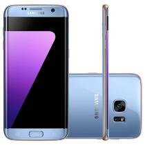 "Smartphone Samsung Galaxy S7 Edge 32GB Azul - 4G Câm. 12MP + Selfie 5MP Tela 5.5"" Quad HD"