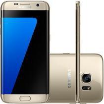 """Smartphone Samsung Galaxy S7 Edge 32GB Dourado - 4G Câm. 12MP + Selfie 5MP Tela 5.5"""" Desbl. Claro"""