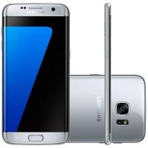 "Smartphone Samsung Galaxy S7 Edge 32GB Prata 4G - Câm. 12MP + Selfie 5MP Tela 5.5"" Quad HD Octa Core"