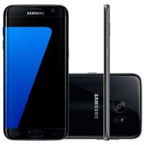 "Smartphone Samsung Galaxy S7 Edge 32GB Preto 4G - Câm. 12MP + Selfie 5MP Tela 5.5"" Desbl. Tim"