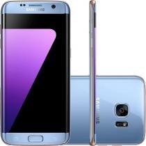 Smartphone Samsung Galaxy S7 Edge G935FZ Azul, Tela 5.5, 4G, Octa Core, Câm. 12MP, 32GB, Android 6 -