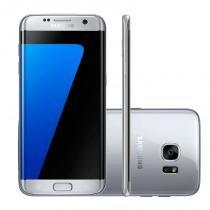 "Smartphone Samsung Galaxy S7 Edge Prata 32GB Octa-Core Tela Curva 5.5"" 2.3GHz 4G Android 6.0 -"