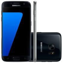 "Smartphone Samsung Galaxy S7 Flat 32GB Preto - 4G Câm. 12MP + Selfie 5MP Tela 5.1"" Desbl. Claro"