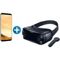 Smartphone Samsung Galaxy S8+ 64GB Dourado Dual - Chip 4G Câm. 12MP + Óculos de Realidade Virtual