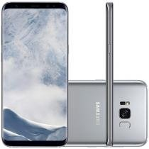 "Smartphone Samsung Galaxy S8+ 64GB Prata 4G - Octa Core 4GB RAM Tela 6,2"" Câm. 12MP + Selfie 8MP"