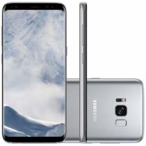 "Smartphone Samsung Galaxy S8 Dual Chip Android 7.0 Tela 5.8"" Octa-Core 2.3GHz 64GB 4G Câmera 12MP Prata -"